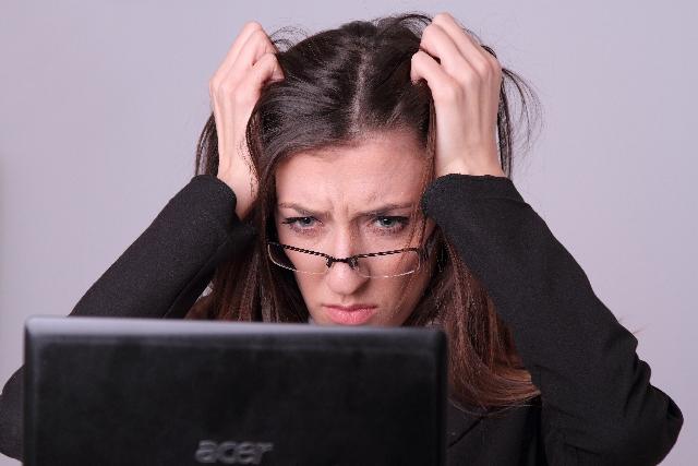 ストレスに直面してる女性